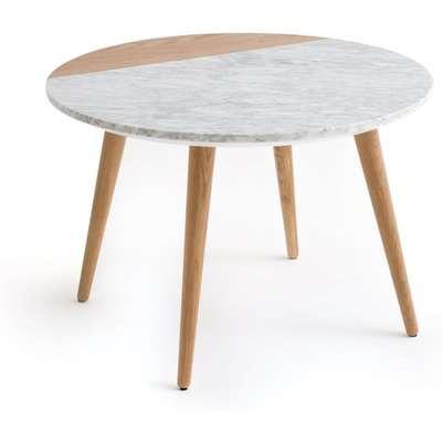 Crueso Oak & White Marble Coffee Table