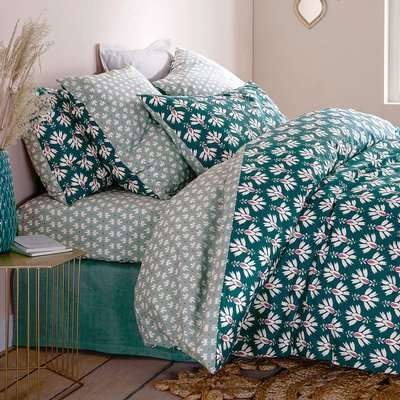 Daya Duvet Cover in Purce Cotton Percale