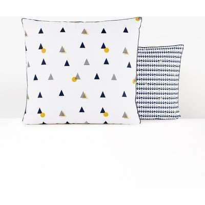 Digna Geometric Reversible Duvet Cover in Cotton Percale
