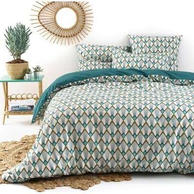 Elisa Art Deco Cotton Percale Duvet Cover