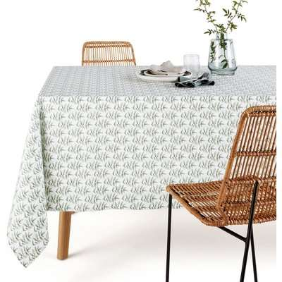 Evergreen Washed Cotton Tablecloth