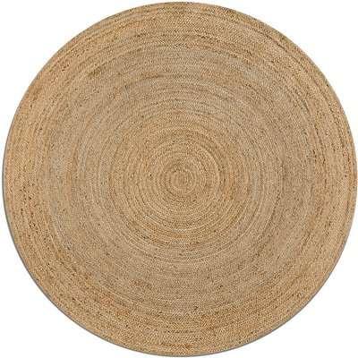 Hempy Round Jute Rug, Diameter 3m