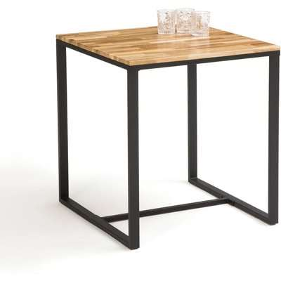 Hiba 2-Person Bistro Table in Oak and Steel