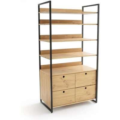 Hiba Large Modular Wardrobe Unit with 4 Drawers & 4 Shelves
