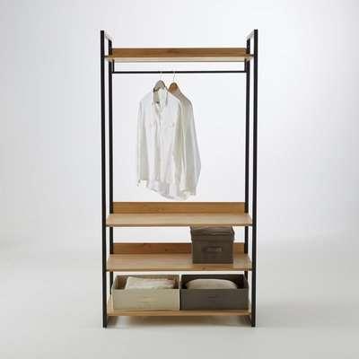 Hiba Wide Modular Wardrobe Unit with 3 Shelves & 1 Hanging Rail