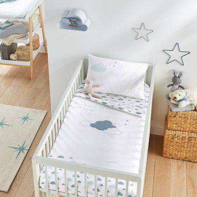 In the Clouds Baby's Cotton Duvet Cover and Pillowcase Set