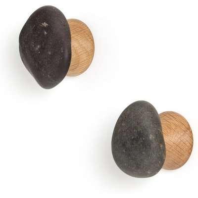 Set of 2 Koishi Pebble Coat Hooks
