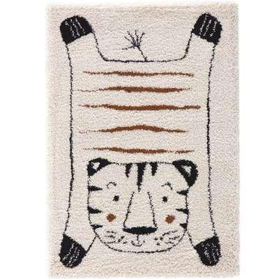 Lillio Tiger Print Kids Rug