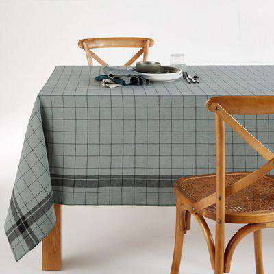 Margaret Washed Linen / Cotton Checked Tablecloth