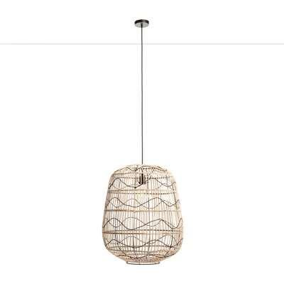 Martaban Pendant Ceiling Light in Rattan & Metal