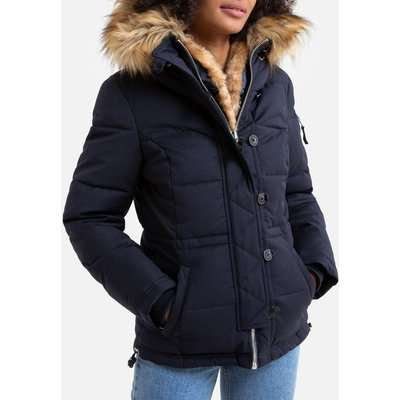Misty Short Parka with Faux Fur Lining and Pockets