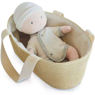 My First Baby Doll with Moses Basket - 28cm