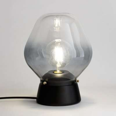 Nasoa Table Lamp in Glass and Wood