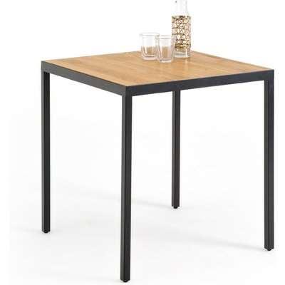 NOVA Oak & Metal Bistro Table