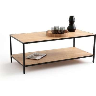 Nova Rectangular Coffee Table in Oak and Metal