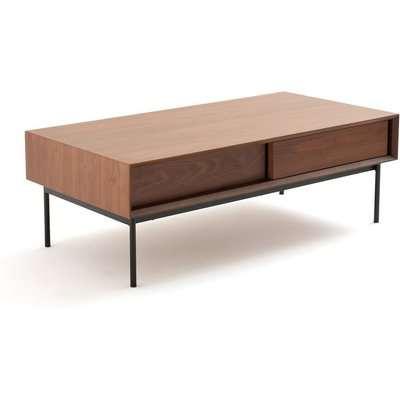 Noyeto Walnut Storage Coffee Table