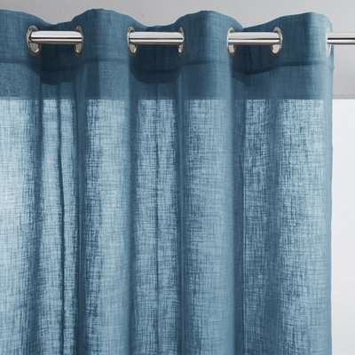 Nyong Linen Effect Single Voile Panel with Eyelets