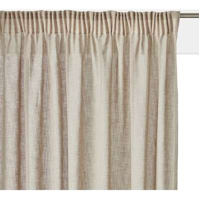 Nyong Linen Effect Voile Panel with Gathered Braid Finish