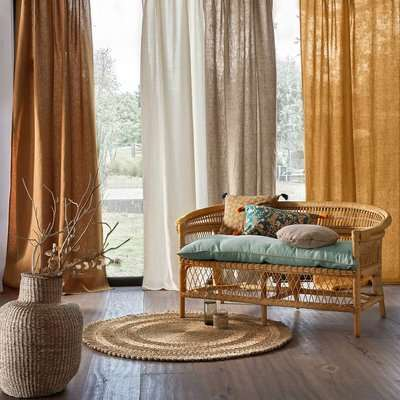 Onega Washed Linen Single Voile Panel