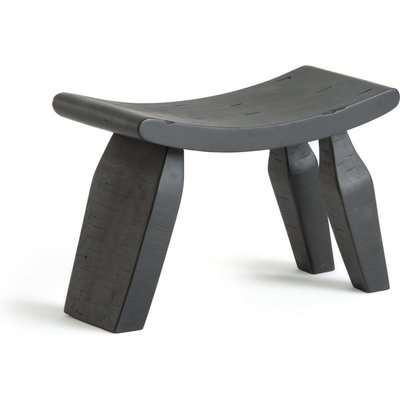 Oreus Three Legged Footstool in Solid Mango