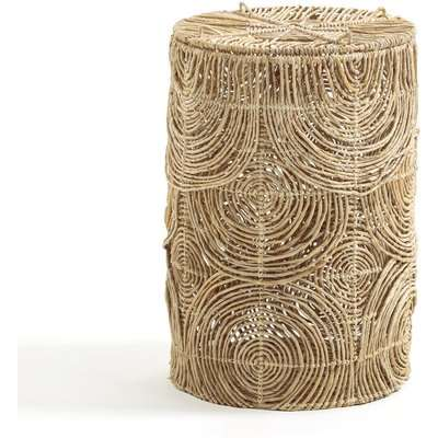 Orphée Laundry Basket in Woven Abaca, H60cm