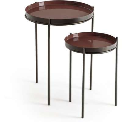 Set of 2 Picabea Nesting Side Tables in Metal