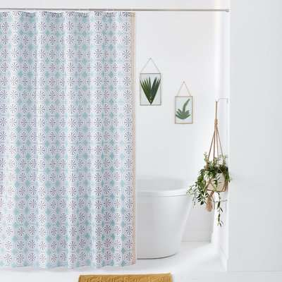 Salernes Patterned Shower Curtain