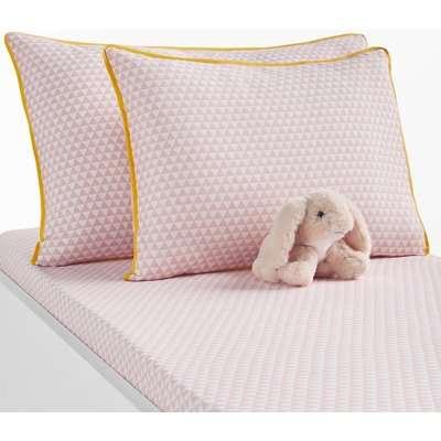 Scandinave Baby's Pillowcase in Geometric Print Cotton