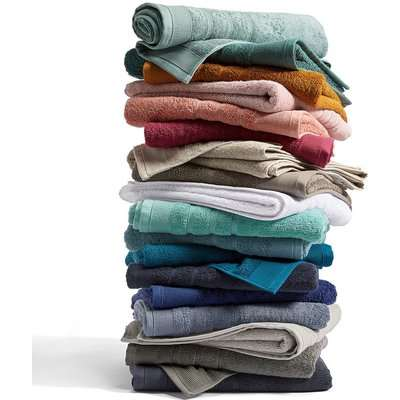 Set of 2 Terry Cotton Hand Towels 600 g/m²