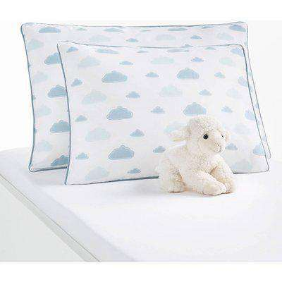 """Set of 2 """"In the Clouds"""" Baby's Pillowcases in Cotton with Star Print"""