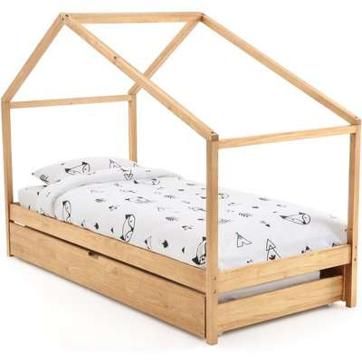 Spidou Solid Pine Cabin Bed with Base