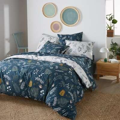 Suzanne Foliage Print Duvet Cover in Cotton Percale