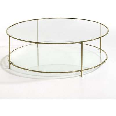 Sybil Tempered Glass Round Coffee Table