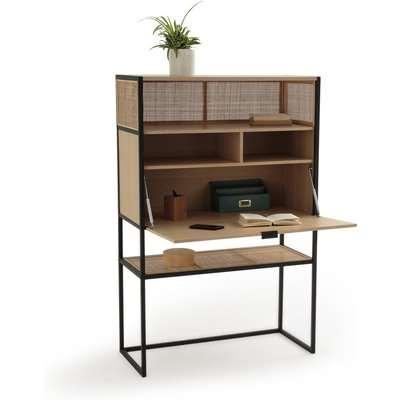 Talist Secretary's Desk with Woven Rattan