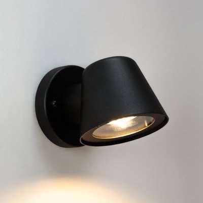 Tobison Indoor/Outdoor Wall Light in Metal & Glass