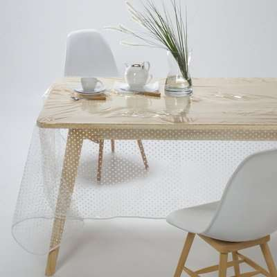 Transparent Tablecloth with Polka Dots