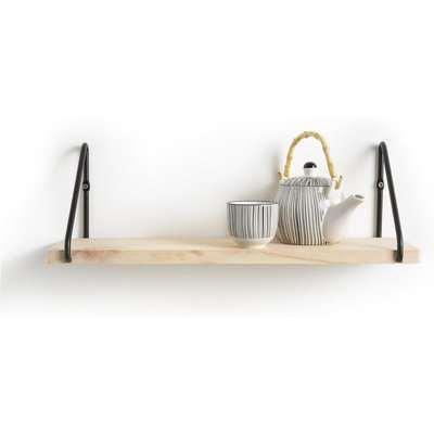 Vinto Pine and Metal Wall Shelf