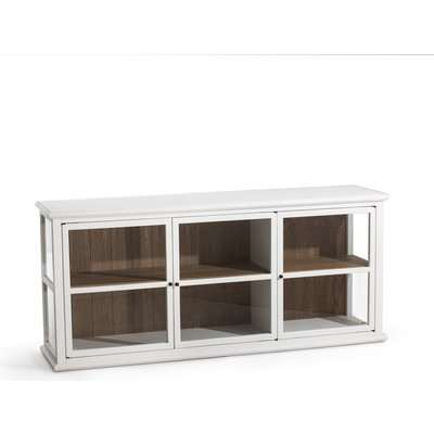 Virginia Oak & Glass Display Cabinet