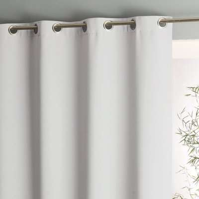 Voda Extra Wide Single Blackout Curtain with Eyelets
