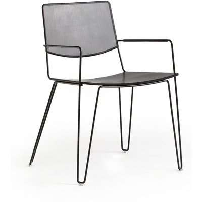 Wallace Perforated Metal Dining Armchair