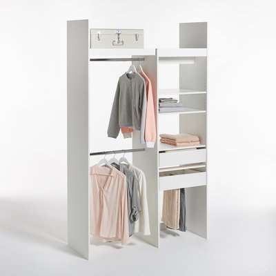 Yann Modular Wardrobe with 1 Stack and 2 Hanging Rails