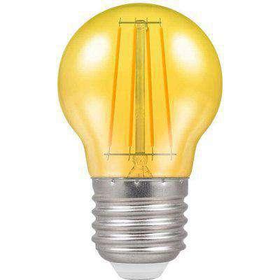 Crompton LED Filament Harlequin Round ES E27 4W - Yellow