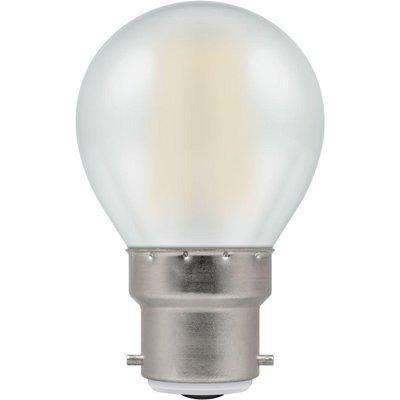 Crompton LED Round BC B22 Filament Dimmable Pearl 5W - Warm White