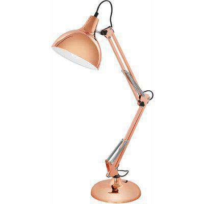 EGLO ES/E27 Borgillio Copper Table Lamp 40W - 94704