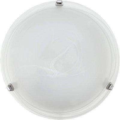 EGLO ES/E27 Decorative Wall Light White Alabaster Glass Diffuser - 7186