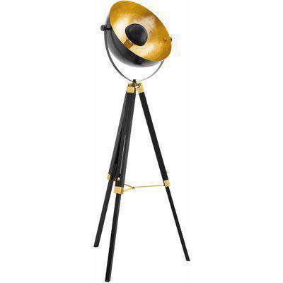 EGLO ES/E27 Tripod Floor Lamp Black/Copper - 49618