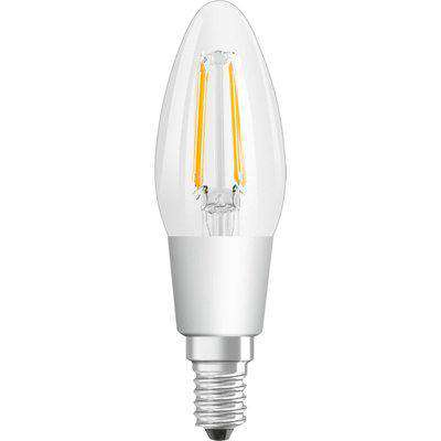 Osram 5W Parathom Clear LED Candle Bulb E14/SES Dimmable Very Warm White - 134522-439672