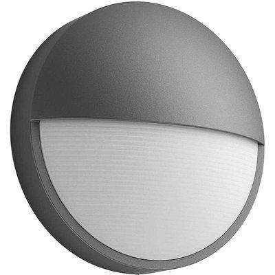 Philips Capricorn 6W Round Integrated LED Outdoor Wall Light Grey - Warm White - 915005192801