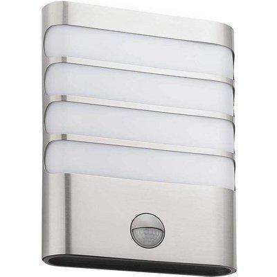 Philips Raccoon 3W LED Outdoor Wall Light With PIR Stainless Steel - Warm White - 915004308801