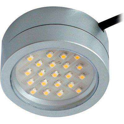 Robus CAPTAIN 2W LED Mains Voltage Cabinet Light - Cool White - Satin Silver Integrated Luminaire - R2CLED240CW-15